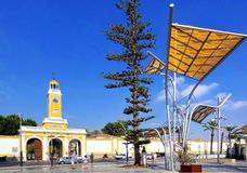 Cartagena, Murcia, Spain - August 01 2018: The artificial forest of Plaza del Rey, built by architect Bernardino García in 2010 i. N the city of Cartagena royalty free stock photo
