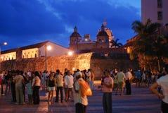 Cartagena na noite fotos de stock royalty free