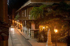 Cartagena by night, Colombia Stock Photo