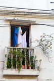 Cartagena okno Zdjęcie Royalty Free