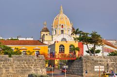 Cartagena old city before the sunset. Stock Images