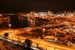 Cartagena på natten Royaltyfri Fotografi