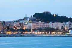 Cartagena på skymning Royaltyfri Fotografi