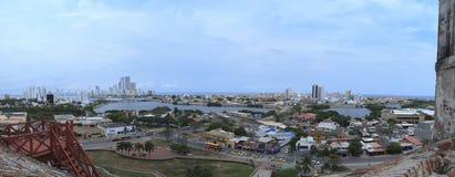 Cartagena panoramic view stock image