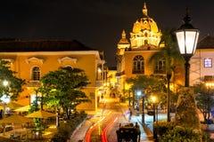Cartagena-Piazza nachts Lizenzfreie Stockfotografie