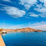 Cartagena port in Murcia at Spain Mediterranean Royalty Free Stock Photo