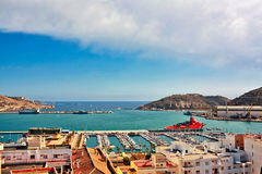 Cartagena port view Royalty Free Stock Photo