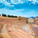 Cartagena Roman Amphitheater in Murcia Spain Stock Photos