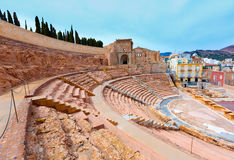 Cartagena Roman Amphitheater in Murcia Spain Stock Photography