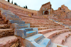 Cartagena Roman Amphitheater in Murcia Spain Royalty Free Stock Images