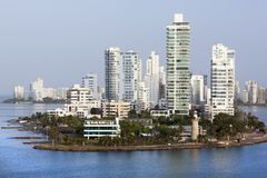 Cartagena`s Residential District Royalty Free Stock Images