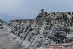 Cartagena`s San Felipe Castle wall royalty free stock photos