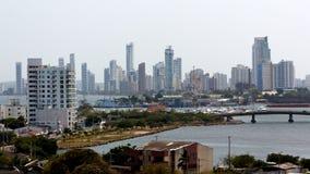 Cartagena Skyline on the Horizon Stock Photos