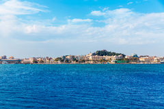 Cartagena skyline Murcia at Mediterranean Spain Stock Photography
