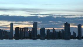 Cartagena - Колумбия Skyscapers сток-видео