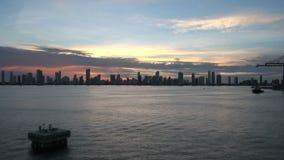 Cartagena Skyscapers - Tid schackningsperiod arkivfilmer