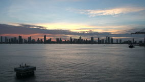 Cartagena Skyscapers - Time Lapse stock footage