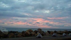 Cartagena solnedgång royaltyfri fotografi
