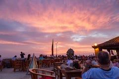 Cartagena-Sonnenuntergang Lizenzfreie Stockfotografie