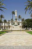 Cartagena, Spain. The monument to the Héroes de Cavite in Cartagena, Murcia in Spain. This celebrates the lives of those who fell in the wars with Cuba and royalty free stock image