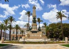 Cartagena, Spanje - Juli 13, 2016: Monument aan de Helden van Cavite en Santiago de Cuba Stock Afbeeldingen