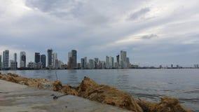 Cartagena stad, Colombia arkivbild