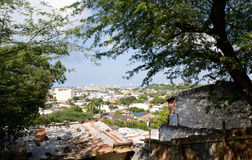 cartagena stadscolombia väggar Arkivfoton