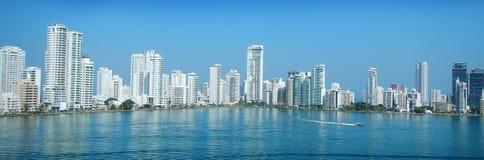 Cartagena stadshorisont arkivfoto