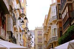 Cartagena stara grodzka ulica Zdjęcie Stock