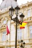 Cartagena stara grodzka ulica Zdjęcie Royalty Free