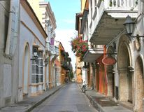 Cartagena Street. A street in Cartagena, Colombia Royalty Free Stock Images