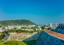 Cartagena View from San Felipe de Barajas Fortress Stock Images