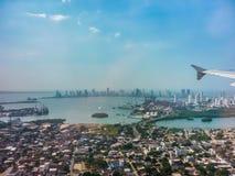Cartagena-Vogelperspektive von der Fenster-Fläche Stockfotos