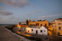 Cartagena w wieczór Zdjęcia Royalty Free
