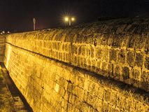 Cartagena wall at night royalty free stock photo