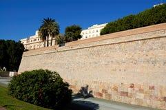 Cartagena walls, spain. View of the walls surrounding cartagena, in spain royalty free stock photos