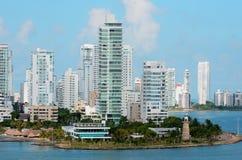 Cartagena Water Front Stock Image