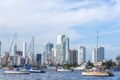 Cartagena and Yachts Stock Photo