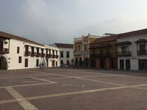 Cartagenas Walled stad Arkivbild