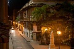 Cartagine entro la notte, Colombia Fotografia Stock