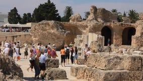 Cartago antiguo en Túnez almacen de metraje de vídeo
