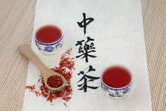 Cartamo Herb Tea Fotografie Stock