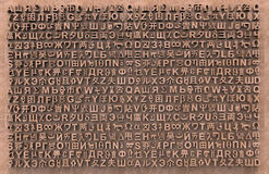 Cartas al azar de muchos lenguajes Fotografía de archivo