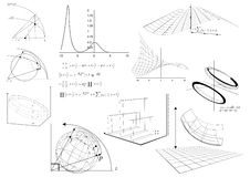 Cartas & equação matemáticas Imagens de Stock