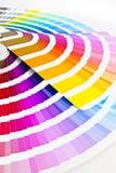 Cartas bicolores Imagenes de archivo