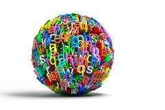 Cartas coloreadas de la bola Fotografía de archivo libre de regalías