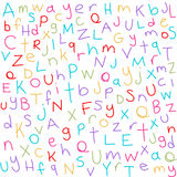 Cartas coloridas Imágenes de archivo libres de regalías