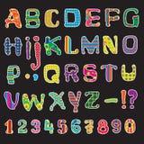 Cartas coloridas Fotografía de archivo libre de regalías