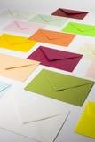 Cartas coloridas fotos de archivo libres de regalías