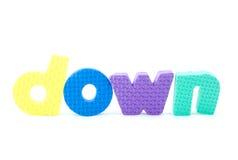 Cartas coloridas con abajo Foto de archivo libre de regalías